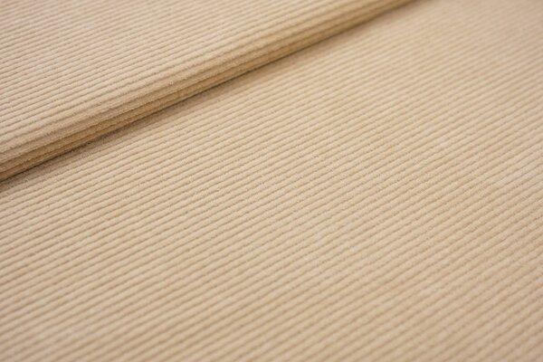 Cord-Jersey schmal uni sand beige