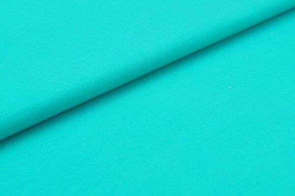 Baumwoll-Jersey Digitaldruck uni petrol-mint