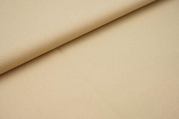 Canvas-Stoff Baumwoll Dekostoff einfarbig uni beige