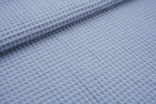 Waffelpiqué Waffelstoff uni hellblau Baumwollstoff mit Waffelmuster