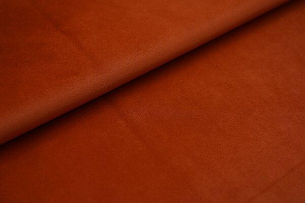 Samtiger Velours Dekostoff Velvet einfarbig uni rostorange