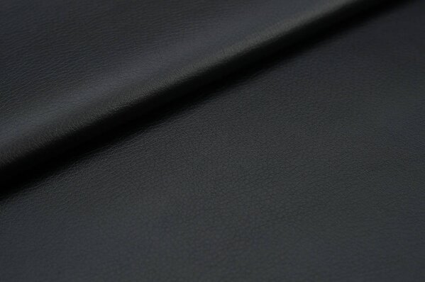 Kunstleder schwarz Uni Lederimitat