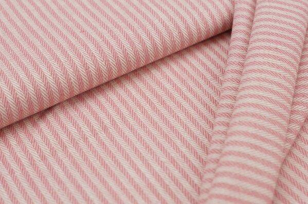 Canvas-Stoff Dekostoff Streifen Linien-Muster pink / weiß