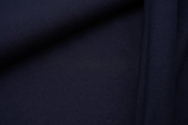 Kuscheliger Jogging-Sweat uni navy dunkelblau French Terry