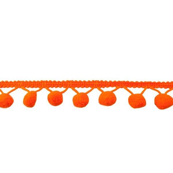 Bommelborte uni orange 24 mm