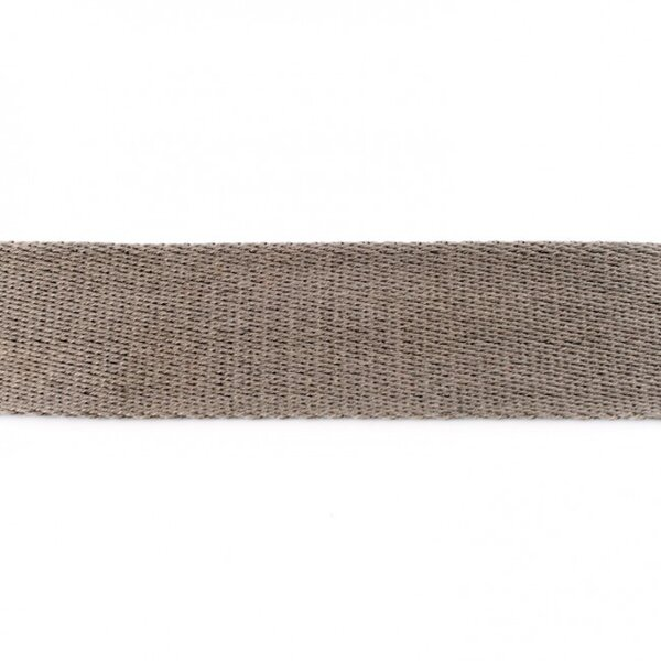 Breites Gurtband uni grau 40 mm
