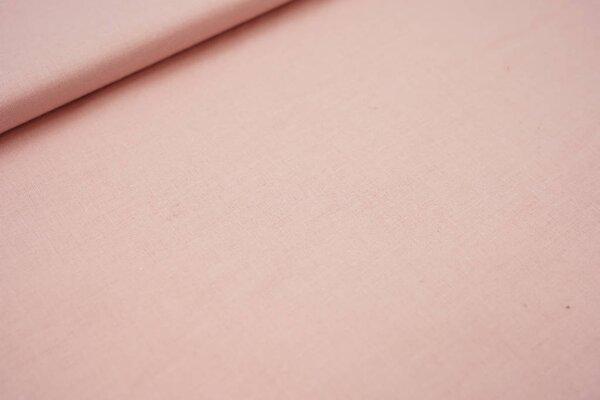 Baumwolle uni pastell lachsrosa Baumwollstoff