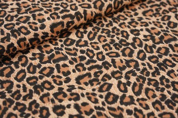 Dekostoff Canvas Leopardenfell Muster braun / schwarz