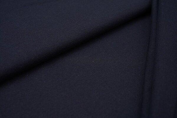 Baumwoll-Sweat Recycelt einfarbig uni navy dunkelblau