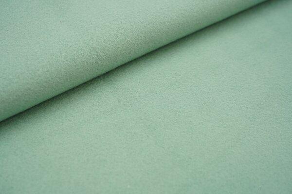 Baumwoll-Fleece uni altmint