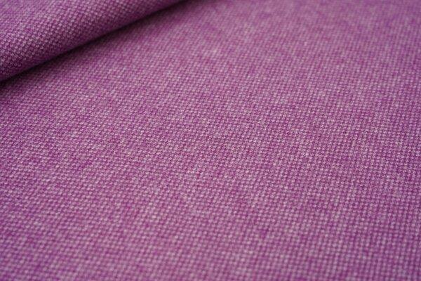 Fester Jacquard in Wolloptik Punktemuster violett lila / weiß meliert