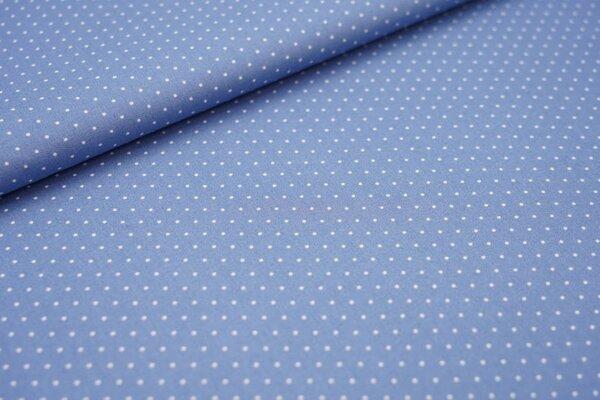 Baumwolle weiße Punkte auf taupe blau