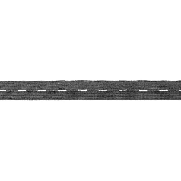 Knopflochgummi uni dunkelgrau 20 mm