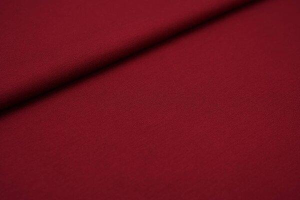 Fester Jerseystoff Romanit Jersey uni bordeaux rot