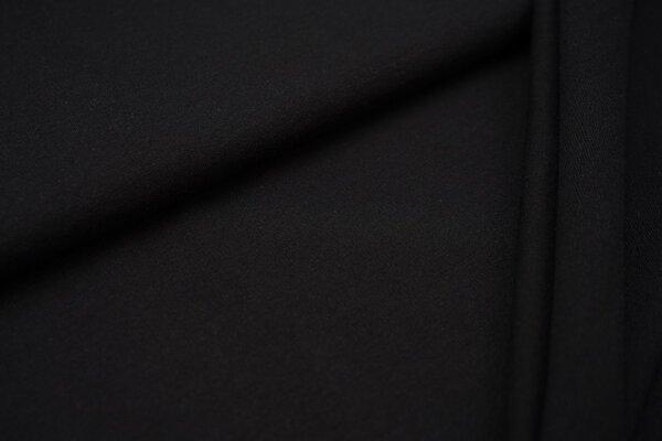 Baumwoll-Sweat Recycelt einfarbig uni schwarz