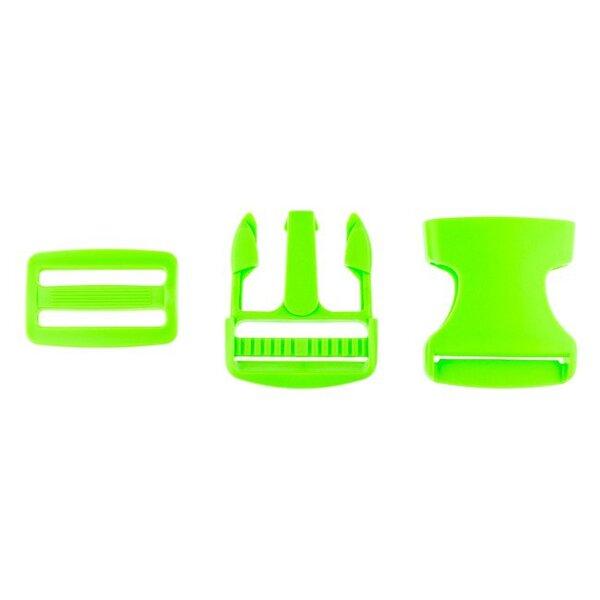 Steckschnalle Steckschließe Taschenverschluss grün 3,8 cm groß