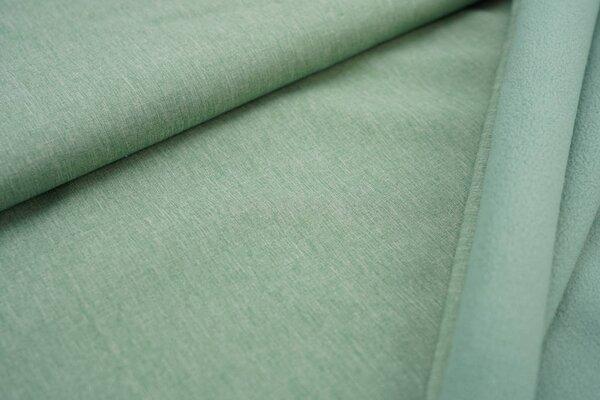 Softshell-Stoff uni hellgrün meliert / mintgrüne Innenseite
