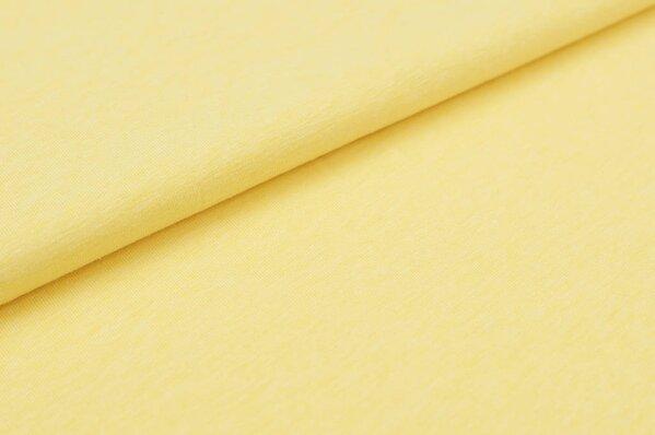 Baumwoll-Jersey uni gelb meliert