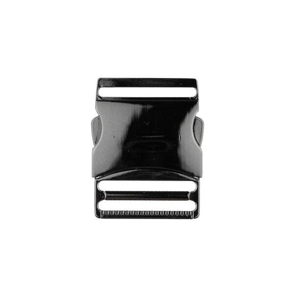 Metall Steckschließe 40 mm anthrazit Steckschnalle Taschenverschluss
