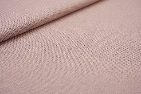 Baumwoll Strickstoff uni altrosa rosé Strickware