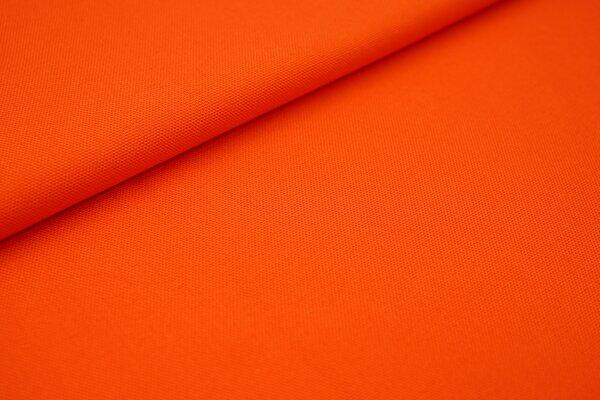 Canvas-Stoff Baumwoll Dekostoff einfarbig uni orange
