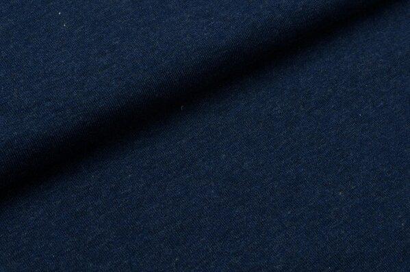 XXL Jersey Maya uni navy blau melange