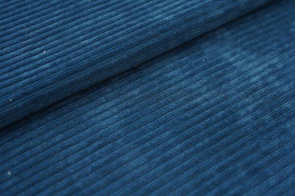 Breitcord Jersey uni petrol blau