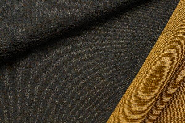 Jeans Stoff Double Face braun / rostorange