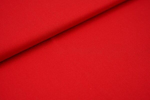 Canvas-Stoff Baumwoll Dekostoff einfarbig uni rot