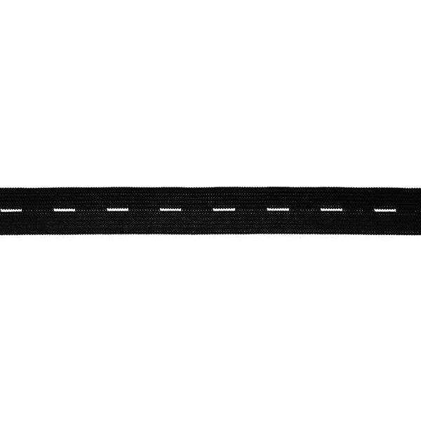 Knopflochgummi uni schwarz 20 mm