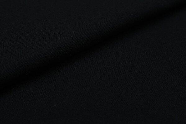 XXL Bündchen Marie glatt Schlauchware schwarz