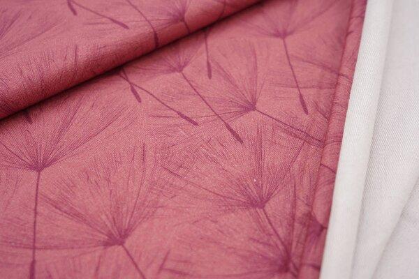 Baumwoll-Sweat Digitaldruck Pusteblumen Schirmchen altrosa / violett