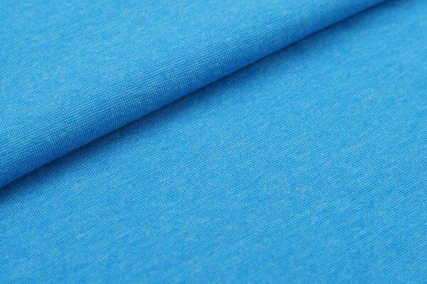XXL Bündchen LILLY glatt Schlauchware blau meliert