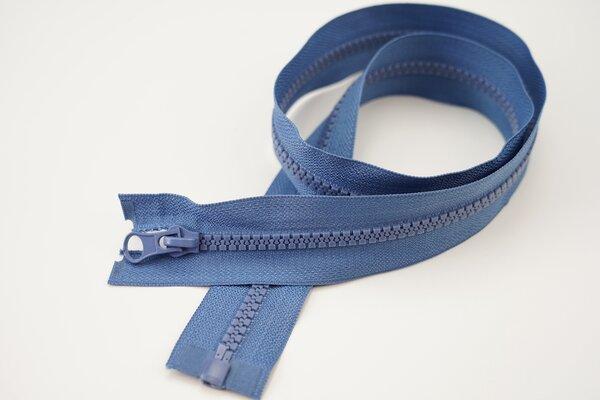 Reißverschluss jeansblau Teilbar 6 mm Krampenschiene Autolock Schieber 40-100cm