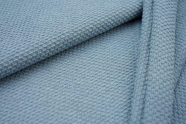 Wafflebébé Waffelstoff uni jeansblau Baumwollstoff bébé