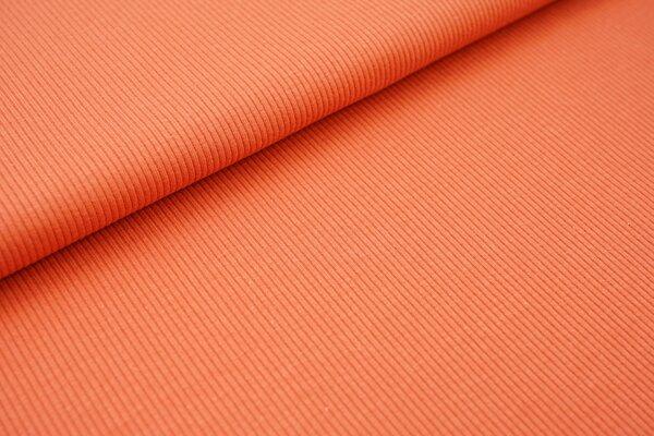 Baumwoll-Rip-Jersey einfarbig uni ziegelrot