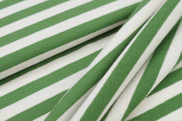 XXL Baumwoll-Sweat MARIE Streifen Ringel breit grün und off white
