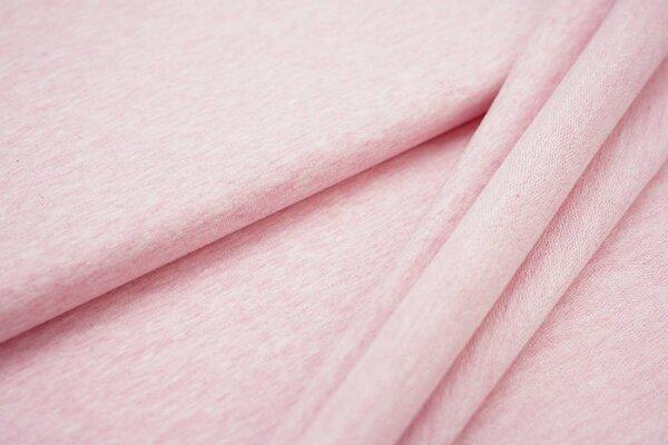 XXL Baumwollsweat Maya uni pastell rosa melange