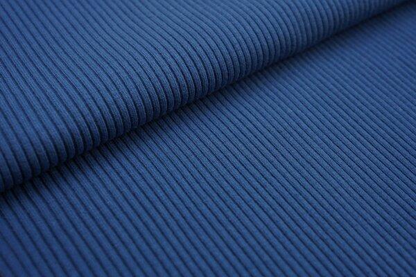 Grobstrick Bündchen Schlauchware gerippt taupe blau