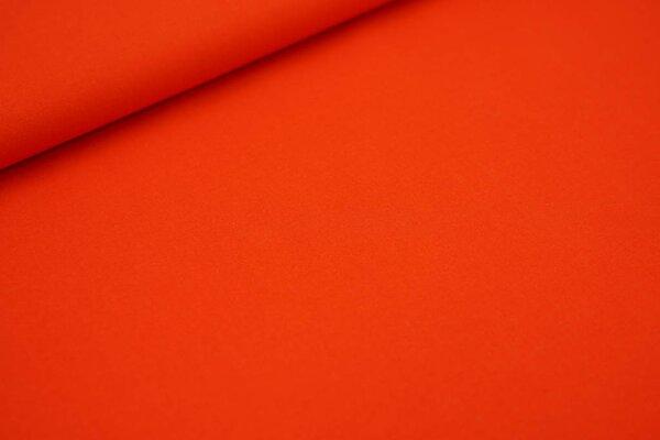 Baumwollstoff Baumwolle uni orangerot