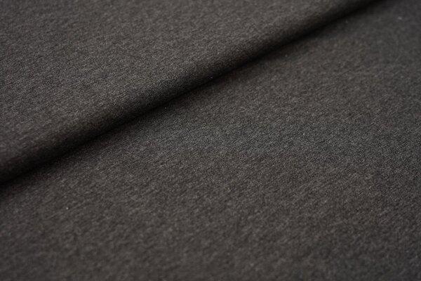 Baumwoll-Jersey einfarbig uni dunkelgrau anthrazit meliert