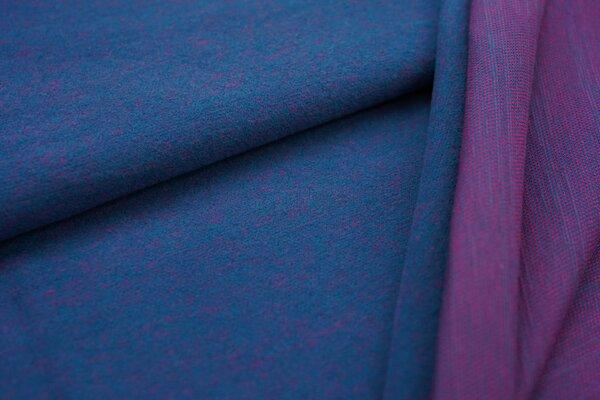 Kuschel Jacquard-Sweat Max Uni petrol mit amarant pink