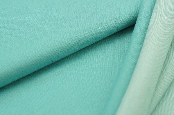 Jacquard-Sweat Ben eisblau Uni mit eisblau und off white Rückseite