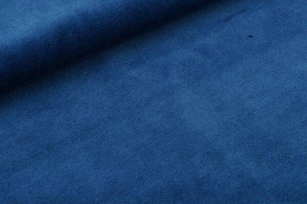 Nicki Stoff uni jeansblau