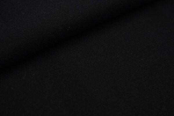 Baumwoll-Fleece uni schwarz