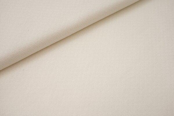 Jacquard-Jersey Lochjersey uni creme ecru off white Lochstrick Feinstrickmuster