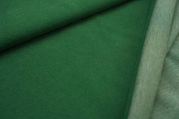 Kuschel Jacquard-Sweat Max Uni dunkelgrün mit off white