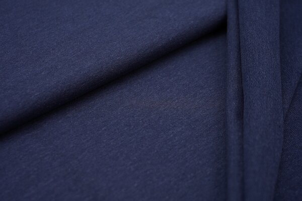 Baumwoll-Sweat Recycelt einfarbig uni blau