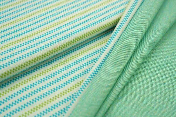 Jacquard-Sweat Ben Linien Muster Streifen off white / türkis / hellgrün