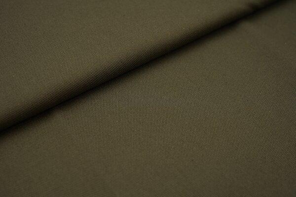 Canvas-Stoff Dekostoff einfarbig uni khaki grün